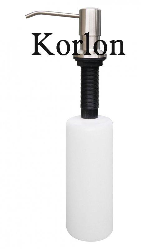 Korlon Stainless Steel Sink Soap Dispenser   Large Capacity 17 OZ Bottle    3.15 Inch Threaded